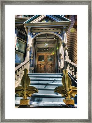 Grateful Dead House - 710 Ashbury Street - San Francisco Framed Print by Jennifer Rondinelli Reilly