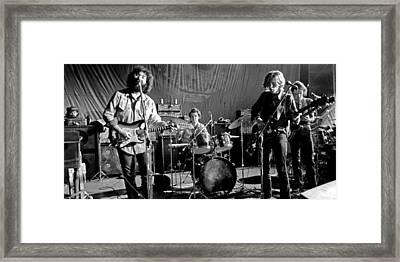 Grateful Dead In Concert - San Francisco 1969 Framed Print by Dan Haraga