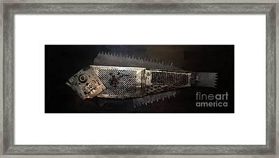 Grater Fish Framed Print by Vladimiras Nikonovas