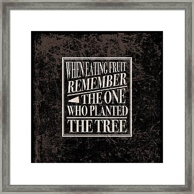 Gratitude Saying Framed Print by Antique Images