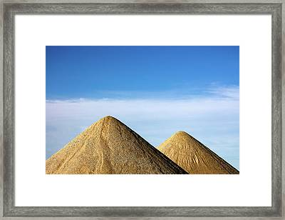 Gravel Pyramids Framed Print by Todd Klassy