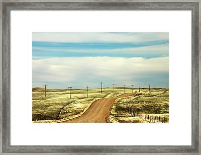 Gravel Road Framed Print by Todd Klassy