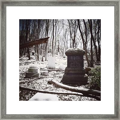 Gravestones Of Dutchess County Framed Print by Natasha Marco