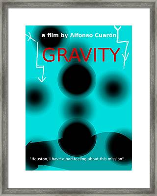 Gravity Movie Poster Framed Print by Enki Art