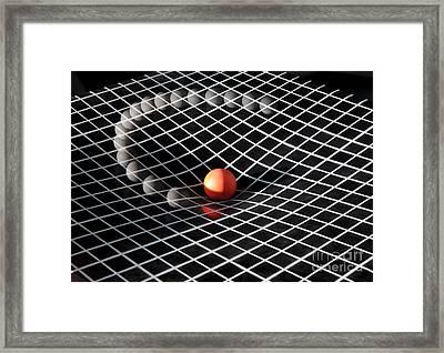 Gravity Simulation Framed Print by Ted Kinsman