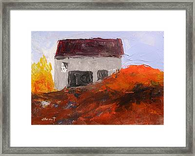 Gray Building Framed Print by John Williams