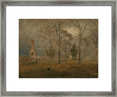 Gray Day, Goochland Framed Print by George Inness