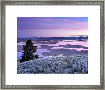 Grays Lake Sunrise Framed Print by Leland D Howard