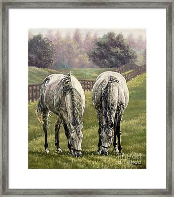 Grazing Framed Print by Thomas Allen Pauly