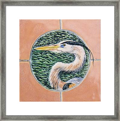 Great Blue Heron Framed Print by Dy Witt