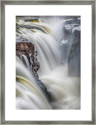 Great Falls Of The Passaic River Framed Print by Rick Berk