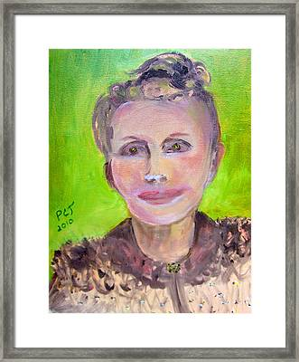Great Grandmother Adora Framed Print by Patricia Taylor