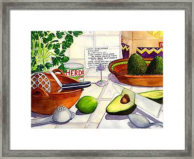 Great Guac. Framed Print by Catherine G McElroy