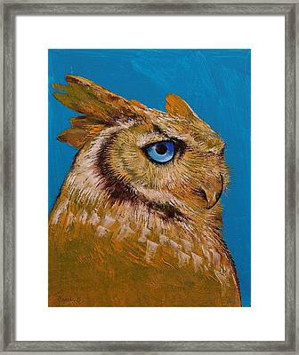 Great Horned Owl Framed Print by Michael Creese