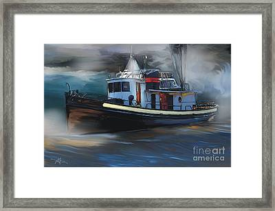 Great Lakes Tugboat Framed Print by Bob Salo