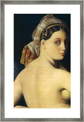 Great Odalisque Framed Print by Ingres