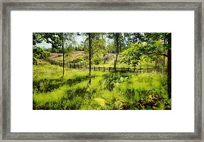 Great Place For A Picnic Framed Print by Gun Legler