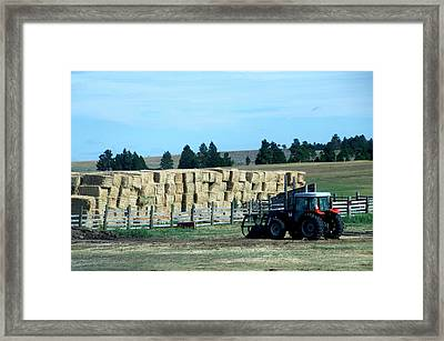 Great Plains Farming 08 Framed Print by Thomas Woolworth