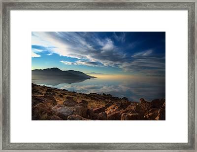 Great Salt Lake Utah Framed Print by Utah Images