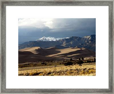 Great Sand Dunes National Park Framed Print by Carol Milisen