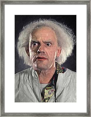 Great Scott - Doc Brown Framed Print by Taylan Soyturk