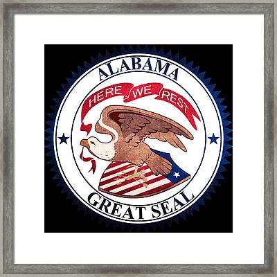 Great Seal Of The State Of Alabama Framed Print by Ryan Wilson