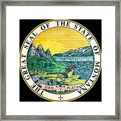 Great Seal Of The State Of Montana Framed Print by Mountain Dreams