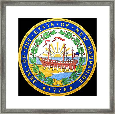 Great Seal Of The State Of New Hampshire Framed Print by Mountain Dreams