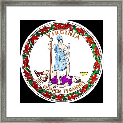 Great Seal Of The State Of Virginia Framed Print by Mountain Dreams