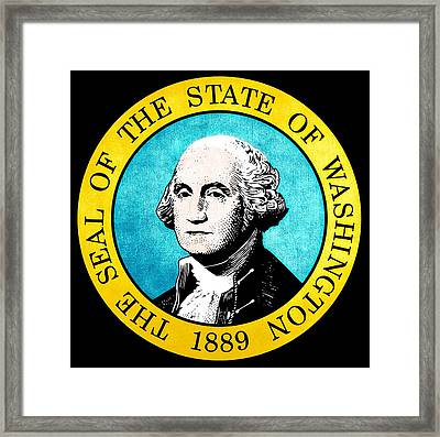 Great Seal Of The State Of Washington Framed Print by D Benbenn