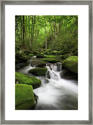 Great Smoky Mountains Roaring Fork Framed Print by Mark VanDyke