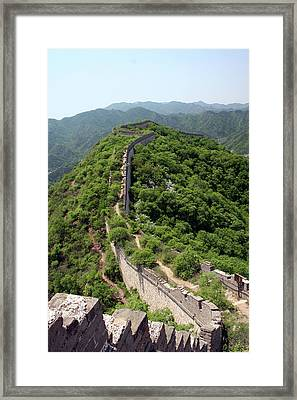 Great Wall Of China Framed Print by Natalia Wrzask