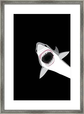 Great White Shark Framed Print by Antique Images