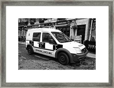 greater Manchester police patrol small van ford transit connect uk Framed Print by Joe Fox