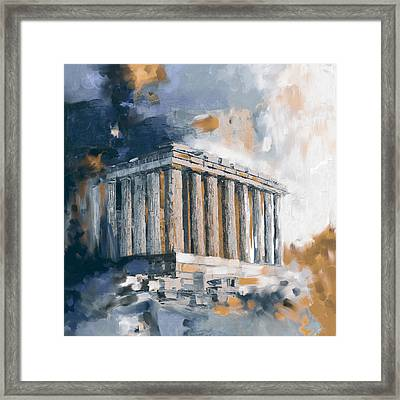 Greece Acropolis 169 3  Framed Print by Mawra Tahreem