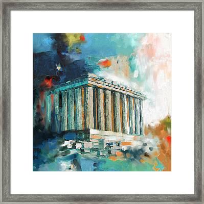 Greece Temple Acropolis 169 2  Framed Print by Mawra Tahreem