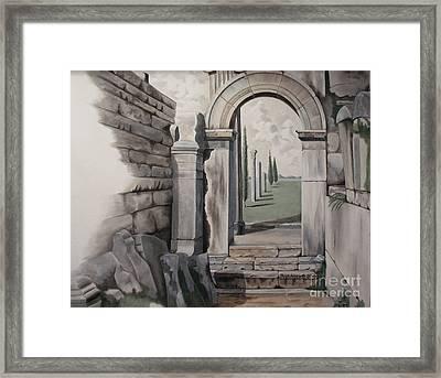 Greek Portal Framed Print by Joyce Hutchinson