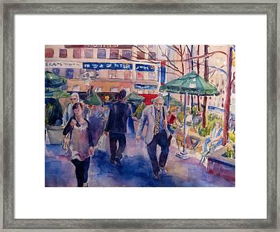 Greeley Square Framed Print by Joyce Kanyuk
