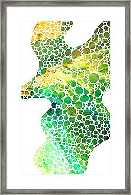 Green Abstract Art - Colorforms 4 - Sharon Cummings Framed Print by Sharon Cummings