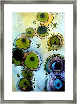 Green And Blue Framed Print by Lizzie  Johnson