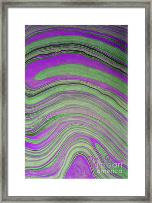 Green And Violet Abstract Framed Print by To-Tam Gerwe