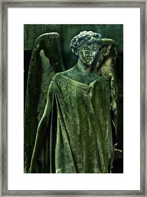 Green Angel Framed Print by Harry Spitz
