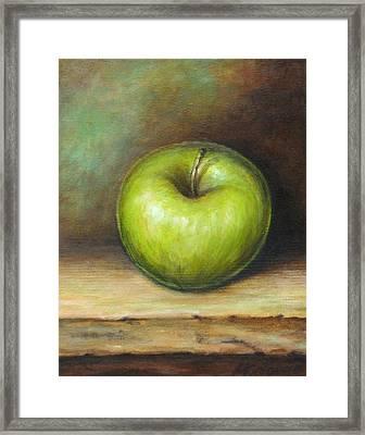 Green Apple Framed Print by Mirjana Gotovac