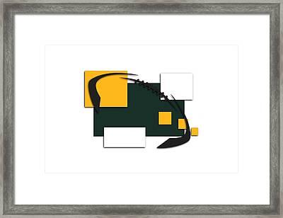 Green Bay Packers Abstract Shirt Framed Print by Joe Hamilton