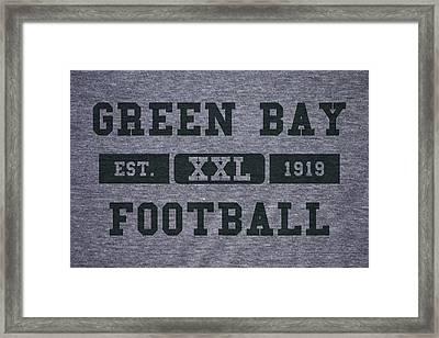 Green Bay Packers Retro Shirt Framed Print by Joe Hamilton