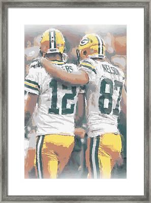 Green Bay Packers Rodgers Nelson Framed Print by Joe Hamilton