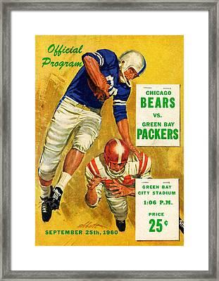 Green Bay Packers Vintage Program 2 Framed Print by Joe Hamilton