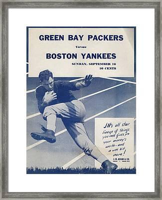 Green Bay Packers Vintage Program Framed Print by Joe Hamilton