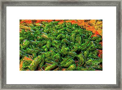 Green Bean Montage Framed Print by Ron Bissett