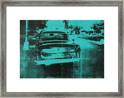 Green Car Framed Print by David Studwell